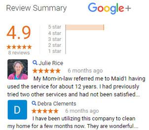 5 Star Rating Google Plus